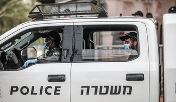 An Israel Police patrol car, for illustration only.