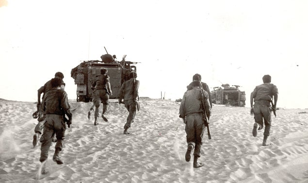 The Sinai front, during the 1973 war.