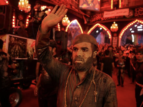 Shi'ite Muslim pilgrims take part in a mourning ceremony, ahead of the holy Shi'ite ritual of Arbaeen, amid the outbreak of coronavirus, Kerbala, Iraq, October 7, 2020.