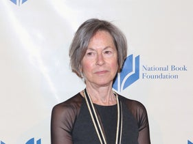 Louise Gluck attending the 2014 National Book Awards in New York City, November 19, 2014.