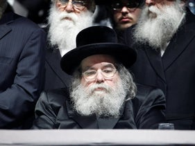 The head of the Belz Hassidic sect, Rabbi Yissachar Dov Rokeach, 2013.