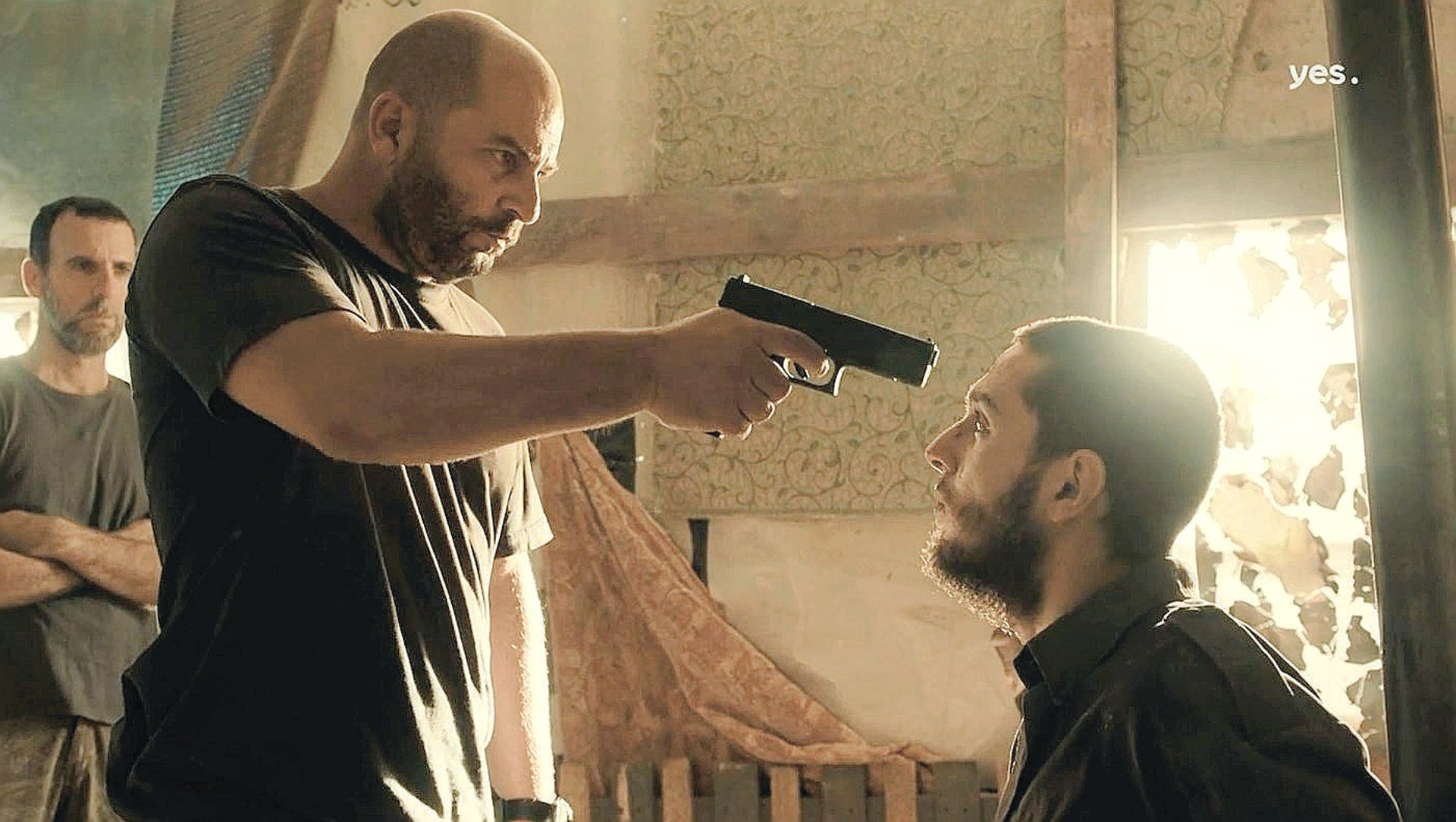 "A scene from season 2 of ""Fauda,"" with Lior Raz. Ali Suliman is most definitely not a fan."