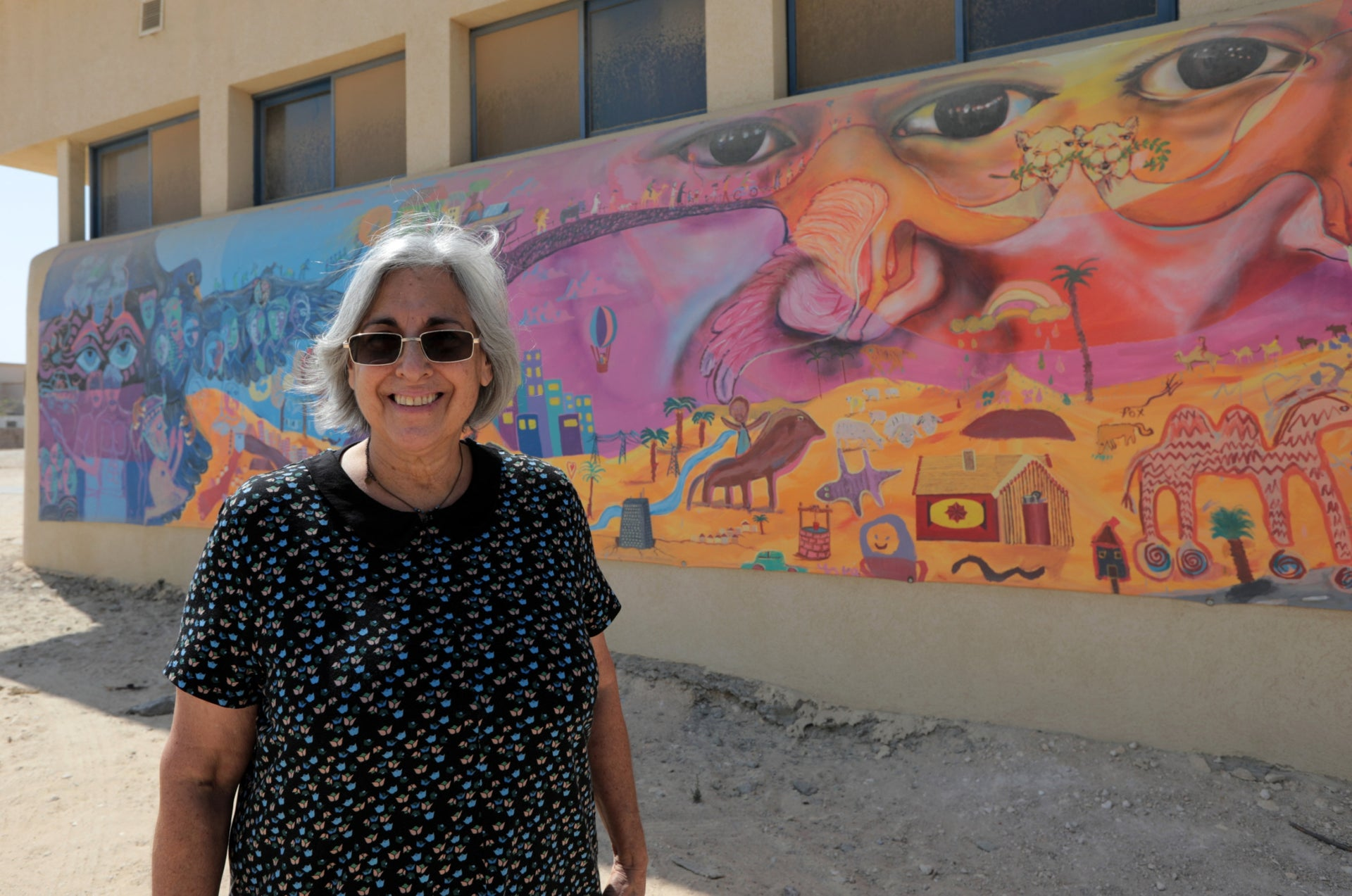 """Debbie Golan. """"The phrase 'Love your neighbor as yourself' is something you experience here on a daily level."""""""
