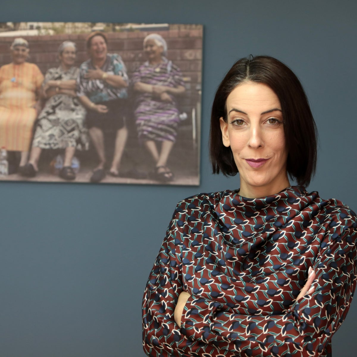 """Yeruham Mayor Tal Ohana in her office. """"I keep this picture here to remind me where I came from and where I'm going."""""""