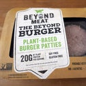 A package of pea protein-based meatless burgers by Beyond Meat in June 26, 2019.