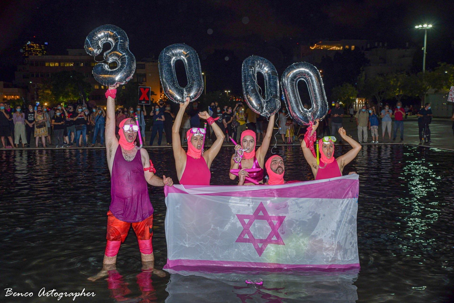 '3,000,' a Pink Front performance, Tel Aviv, 2020.