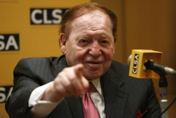 Sheldon Adelson. Tehran didn't take kindly to his suggestion that the United States drop a bomb on Iran.
