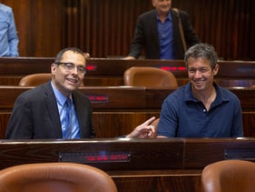 Yoaz Hendel and Zvi Hauser, Jerusalem, April 29, 2019. 'Two unimpressive MKs whose public importance is near zero who repeatedly recite the same mantra – that Arab lawmakers support terrorism'