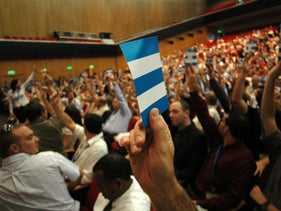The 35th World Zionist Congress in Jerusalem, June 22, 2006.