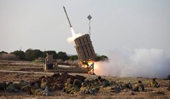 Israel's Iron Dome missile defense system, August 22, 2020