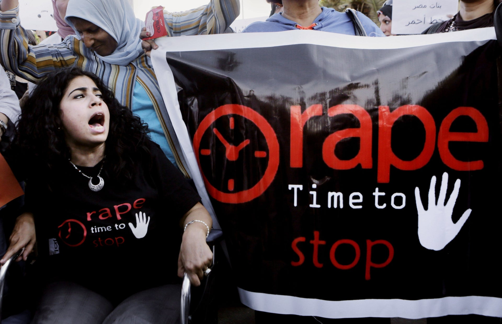 Protest against sexual harassment, Cairo, June 14, 2014