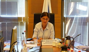 Lawmaker Michal Cotler-Wunsh during a Knesset committee session, August 26, 2020.