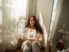 22-year-old Nadeen Ashraf, founder of the @assaultpolice Instagram page, at her home in Cairo this month.