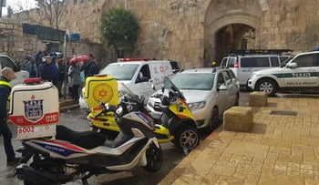 The location of the alleged stabbing attempt took place in the Old City of Jerusalem, February 2020.