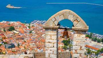 Nafplio, an ancient coastal city in the Peloponnese.