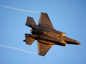 Israeli Air Force F-35 flies during an aerial demonstration at a graduation ceremony for Israeli air force pilots at the Hatzerim air base in southern Israel June 27, 2019