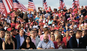 Trump supporters at a rally near Orlando, Florida, October 2020.