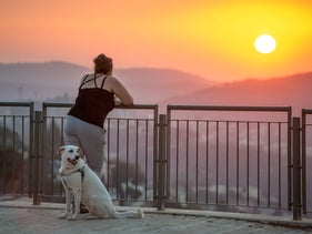 Watching the sunset over Jerusalem, October 6, 2020.