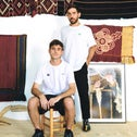 Amit Luzon (sitting) and Eyal Eliyahu. Their Adish brand is far from apathetic to Israeli-Palestinian affairs.
