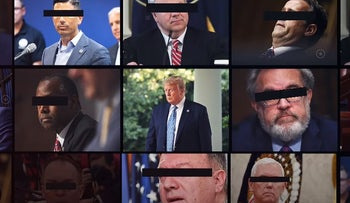 Image from the Lincoln Project's anti-Trump ad 'Whispers'