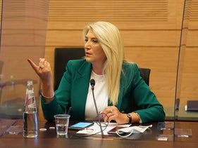 Likud lawmaker Osnat Mark at the knesset in Jerusalem, September 2020.