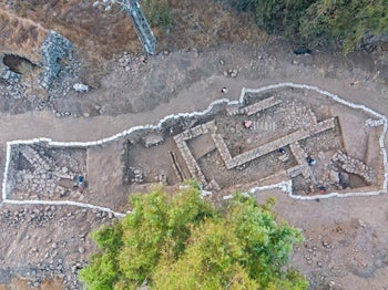 Aerial view of ancient Nafah