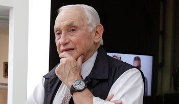Retail mogul Leslie, or Les, Wexner, at the Wexner Center for the Arts in Columbus, Ohio, September 19, 2014.