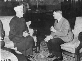 The Grand Mufti of Jerusalem, Haj Amin al-Husseini, in a meeting with Hitler in 1941.