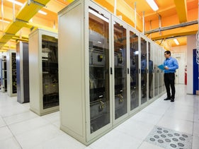 A room housing servers. Israel is splurging on Microsoft's cloud-computing services, despite regulations and a governmental push to create a local alternative