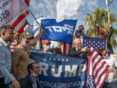 Israeli supporters of Donald Trump rallying in Jerusalem, October 27, 2020.
