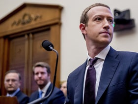 Facebook CEO Mark Zuckerberg prior to testifying at a 2019 hearing of the House Financial Services Committee.