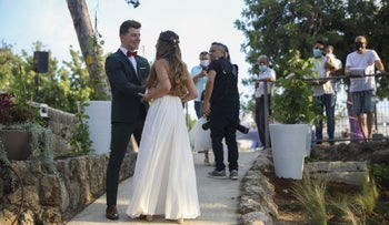 A wedding in Givatayim, August 2020.