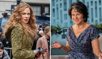 "Nicole Kidman as Grace Fraser in ""The Undoing,"" left, and Tracey Ullman as Betty Friedan in ""Mrs. America."""