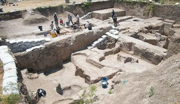 The unearthed ancient riverside Turkish settlement in Tell Tayinat.
