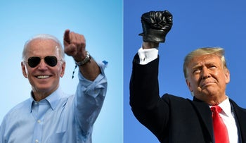 Joe Biden and Donald Trump.