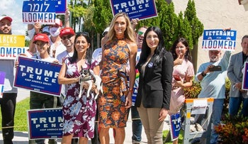 Lara Trump campaigns with Laura Loomer in Florida