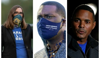 From left to right: Sarah McBride, Mondaire Jones, and Ritchie Torres
