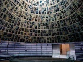 The Hall of Names at Yad Vashem, July 9, 2020.