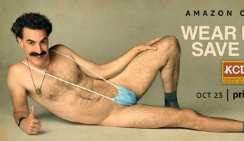 Sacha Baron Cohen poses for a photoshoot for the sequel to his 'Borat' film that was released on October 23, 2020.