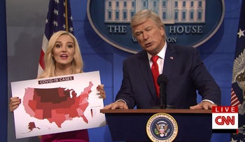 On 'SNL' Alec Baldwin's Trump gives 'victory speech' - cites wrong red wave