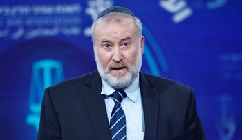 Attorney General Avichai Mendelblit, who since May, also serves as acting state prosecutor in, Herzliya, September 2020.