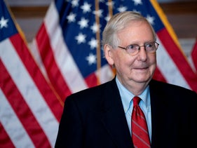 Senate Majority Leader Mitch McConnell on Capitol Hill in Washington, D.C., November 9, 2020.