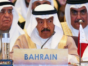 Bahrain's Prime Minister Prince Khalifa Bin Salman al-Khalifa during the Asia Cooperation Dialogue (ACD) summit at the Foreign Ministry in Bangkok, Thailand, October 10, 2016.