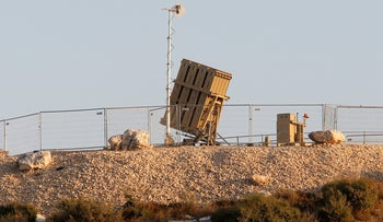 An Iron Dome missile defense system battery in central Israel, March 11, 2019.