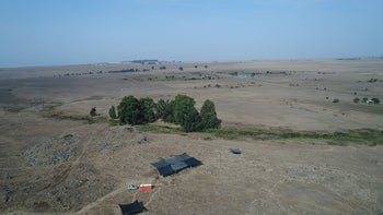 The IAA excavation at Hispin, aerial view