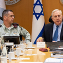 Retired Army Col. Douglas Macgregor in a meeting with Israeli army officials.