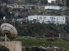 Port cabins in Givat Hamatos, February 20, 2020.