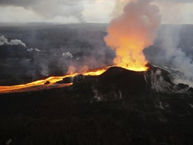 Past the tipping point for global warming? (Kilauea, illustration)