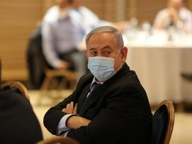 Netanyahu at the Foreign Ministry in Jerusalem, June 2020.