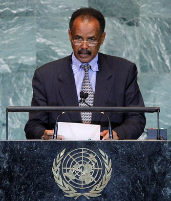President Isaias Afwerki of Eritrea at the United Nations General Assembly at U.N. headquarters in 2011.